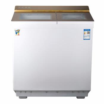 小鴨10 KG大容量半自動洗濯機家庭用のダブルシリンダーのホイール洗い分離スプレーXBP 100-2500 Sシャンパンの金