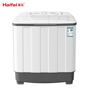 海飛(haiifei)8.2キロ半自動ダブルシリンダーダブルバール洗濯機大容量老人家庭用半自動洗濯機透明蓋板洗浄一体