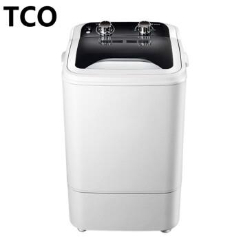 TCO半自動波輪シングルバレルミニ洗濯機小型大容量子供家庭用寮賃貸下着洗濯機洗濯機TCO角バレル普通タイプ-ブラック